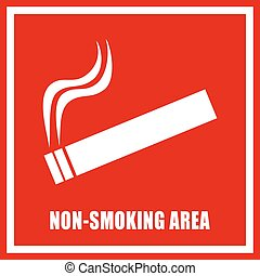Non smoking area sign - Non smoking area vector sign