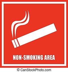 Non smoking area sign - Non smoking area vector sign