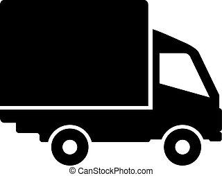 Truck icon isolated on white background