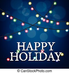 Happy Holiday party - Vector Illustration Of Happy Holiday...