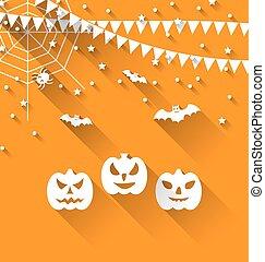 Halloween Paper Background - Illustration Halloween Paper...