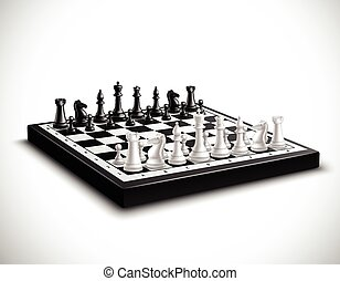 Realistic Chess Board Illustration - Realistic chess board...