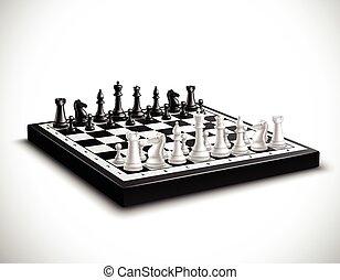 Realistic Chess Board Illustration - Realistic chess board...