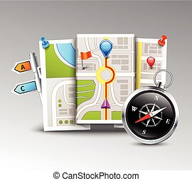Navigation Realistic Background - Navigation realistic...