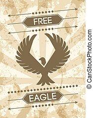 Eagle Grunge Poster