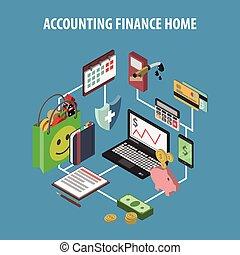 Home Bank Isometric