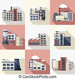 Industrial Buildings Set
