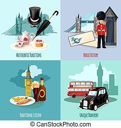 London Touristic Set - London touristic design concept set...