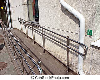 Ramp for physically challenged at the entrance - Ramp for...
