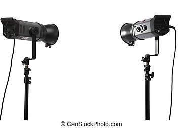 Two studio flashes