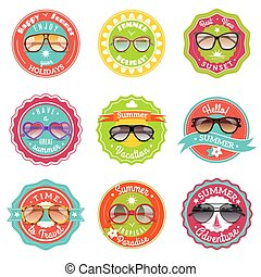 Sun glasses summer sale labels - Round and cat eye style sun...