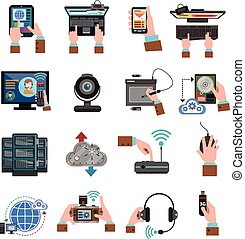 It Devices Icons Flat