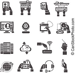 It Devices Icons Black