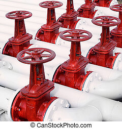 Oil and gas pipe line valves - white oil and gas pipe line...