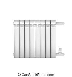 Metal cast radiator for indoor steam heating
