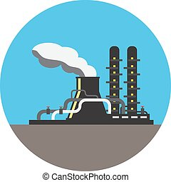 Colorful NPP illustration - Colorful NPP picture in round...
