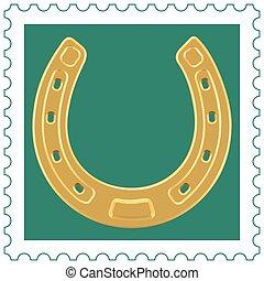 Horseshoe on stamp