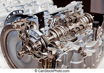 Engine cross section - Modern car engine cross section