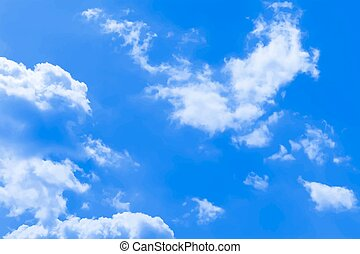 Sky background - Background of the blue sky and clouds
