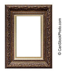 Picture antique frame isolated