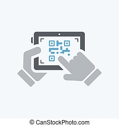Scanning qr code with tablet