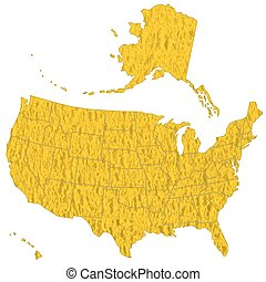 Textured map of USA