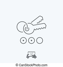 Keyword icon - Thin series