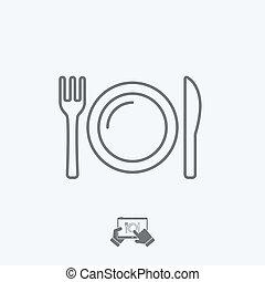 Eatery icon - Thin series