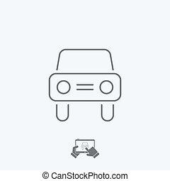 Car icon - Thin series
