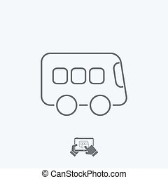 Bus icon - Thin series
