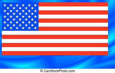 USA Flag - Flag of the United States on the abstract...