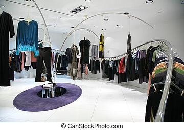 loja, roupas, cabides