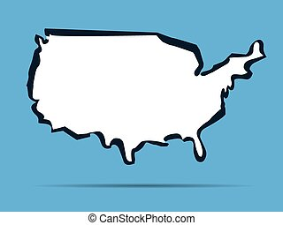 Vector map of USA