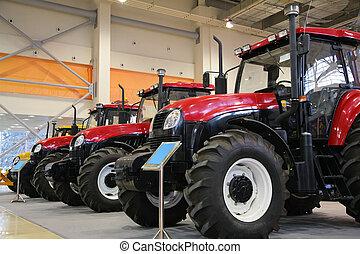 Tractors on exhibition