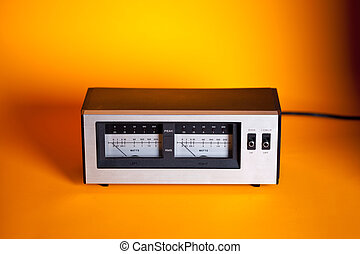 Analog Peak RMS Audio Power VU Meter with needle and LED...