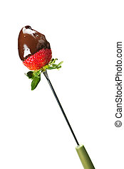 Strawberry dipped in chocolate - Strawberry dipped in...
