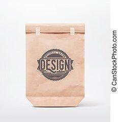 Paper Bag - Paper bag for design, eps 10