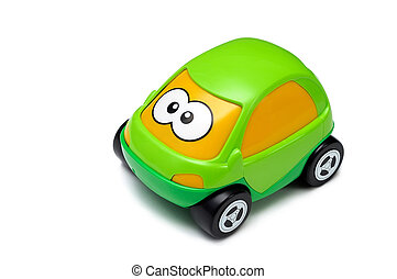 Toy car - Green toy car isolated