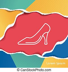 High-heeled shoes line icon
