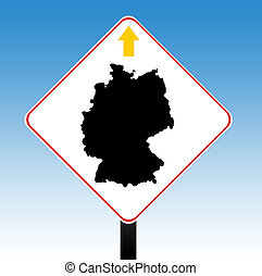 Germany road sign