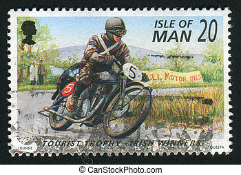 postmark - ISLE OF MAN - CIRCA 1996: Irish Winners of...
