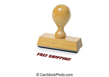 Free Shipping Rubber Stamp - Free Shipping printed in red...