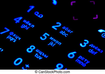 Telephone keypad - Macro of digital telephone keypad,...