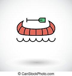 Canoe icon - Canoe. Flat icon on the white background for...