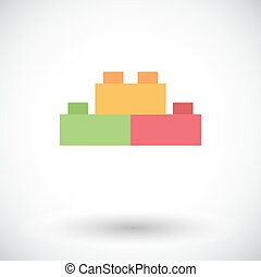Building block icon Flat vector related icon for web and...