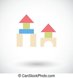 Building block icon. Flat vector related icon for web and...