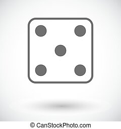 Craps icon - Craps Single flat icon on white background...