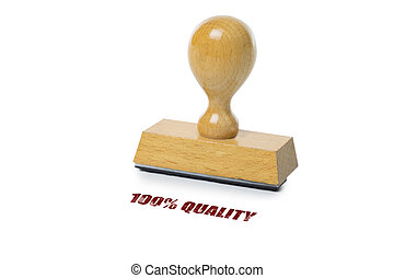 100 Quality Rubber Stamp - 100 Quality printed in red ink...