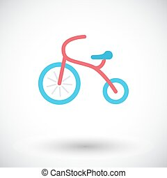 Tricycle icon Flat vector related icon for web and mobile...