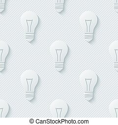 Light bulbs pattern